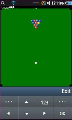 Java ME Pool game OnSamsung Wave