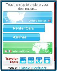 WhereTraveler Mobile Homepage