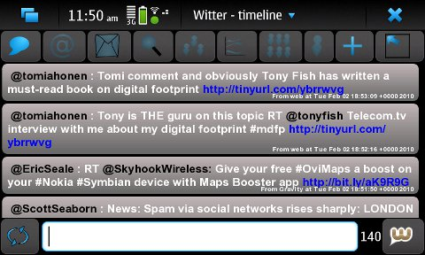 Witter Maemo Twitter client