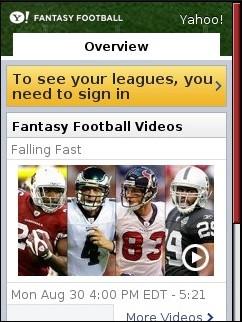 Yahoo! Fantasy football