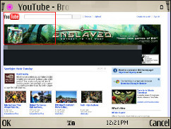 Symbian V7.2 Browser - YouTube - Zoomed Out