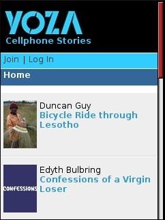 Yoza Cellphone Stories