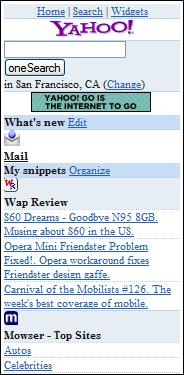 Lite version of Yahoo Widgets