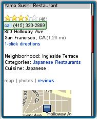 Bing Mobile Local Search