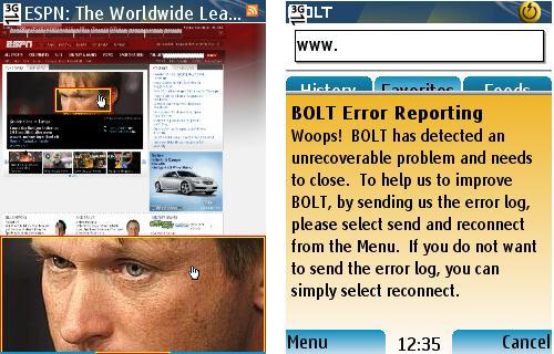 Bolt - Split Screen and Error Reporting