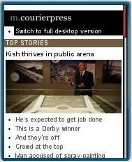 Evanston Courier Press Mobile Website