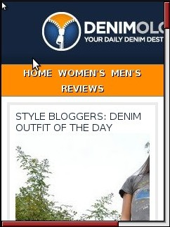 Denimology Mobile View