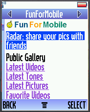 FunForMobile Homepage