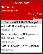 NCAA Football Championship - G-SNAP! Mobile