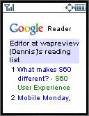 Google Reader Mobile