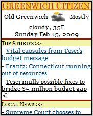 Greenwich Citizen Mobile Homepage