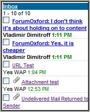 Hushmail Inbox