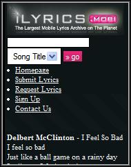 iLyrics lResult Page