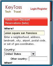 KeyToss Search Form