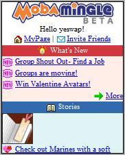Moba Mingle Homepage