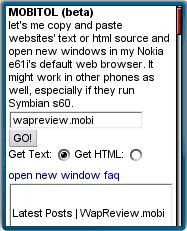 Mobitol - Copy text with mobile browsers