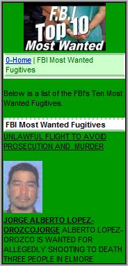FBIMostWanted.mobi Screenshot
