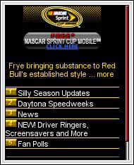 Nascar Sprint homepage