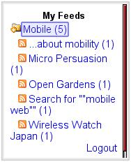 NewsGator Feed List