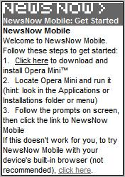 NewsNow recommends Opera Mini
