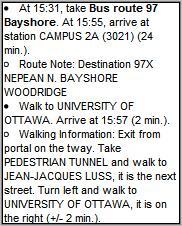 Walking directions