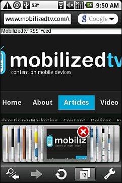 Opera Mini 5 Android - 12 Tabs