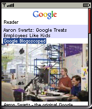 Google Reader in Opera Mini