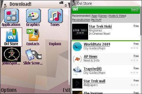 Nokia Download and Ovi Store