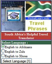 Pocket Learn - Mobile South African Phrasebook