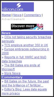 Siliconuk.mobi Homepage