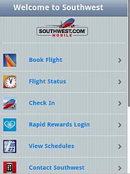 Southwest Airline iPhone WebApp