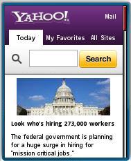 New Tabbed Yahoo Mobile Portal