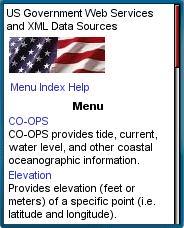 USGovXML.com mobile web homepage