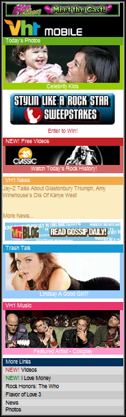 VH1 Front Page