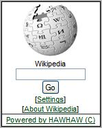 Wikipedia mobile home page