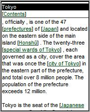 Wikipedia Mobile Tokyo article - page