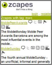 zcapes MWC mobile mini-blogs