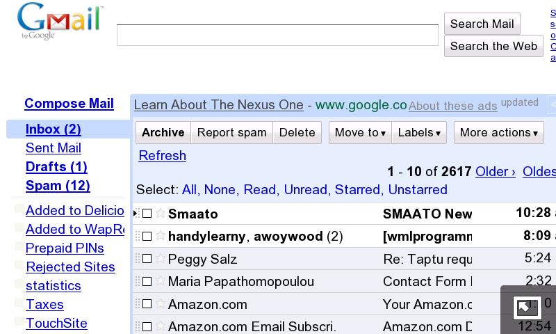 N900 - Gmail