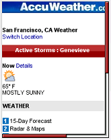 AccuWeather Mobile Site Update | Wap Review