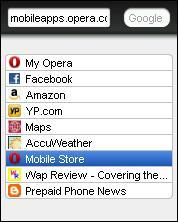 Opera Mini 6 Lite Speed Dials