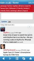 UC Browser 7.6 (Symbian) - Dabr