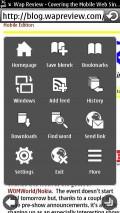 New Symbian Browser - Menu