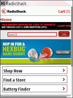 Radio Shack Mobile - Home Page