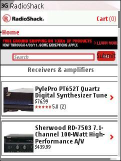 Radio Shack Mobile - Product Catalog