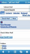 UC 7.7 Symbian - Yahoo Mail in Fit To Width mode