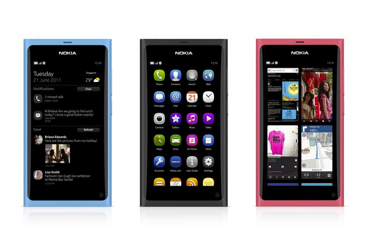 Nokia N9 - The Three Homescreens