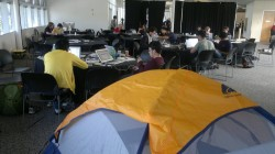 Hackers At Work - Pup Tent Available