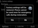 5. Soft Reset Confirmation Screen