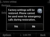 5. Soft Reset Confirmation Screen