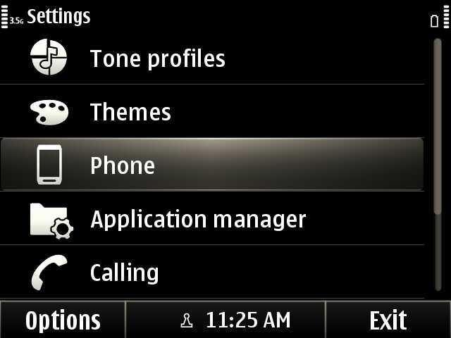 1. Settings > Phone